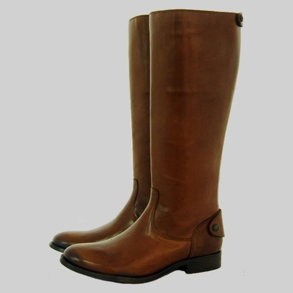 ae92de7d4475 Frye Melissa Button Back Zip Wide Calf Riding Boot Boutique